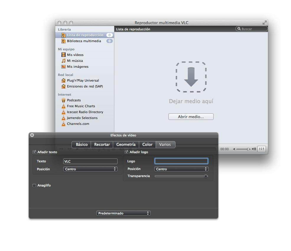 Cómo añadir marcas de agua a un vídeo con VLC