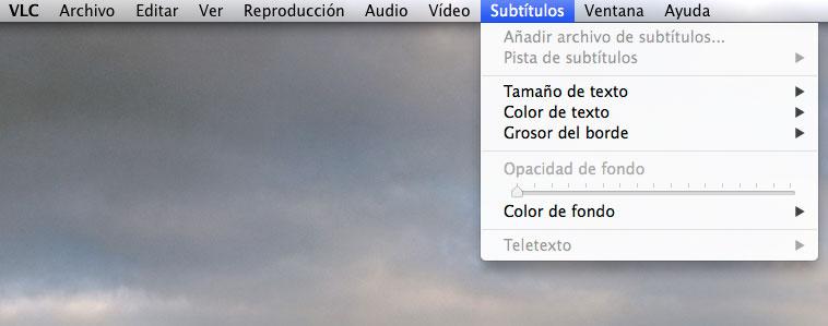 subtitulos en VLC