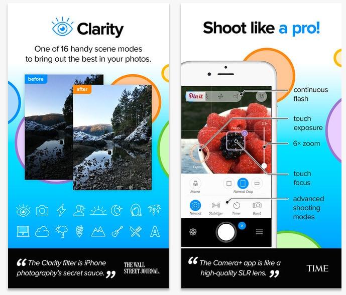 Camera+, la mejor aplicación de fotografía para iOS (iPhone) se actualiza a su versión 6