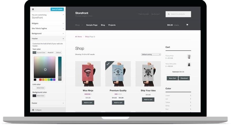 WooCommerce y su tema storefront para wordpress