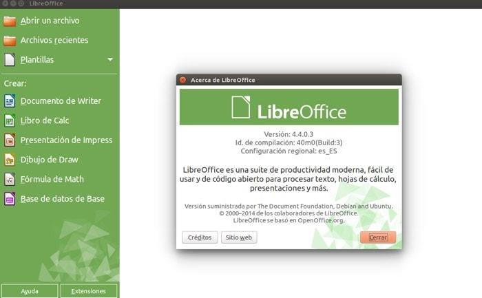 Cómo actualizar a la última versión de LibreOffice 4.4 en Ubuntu Linux