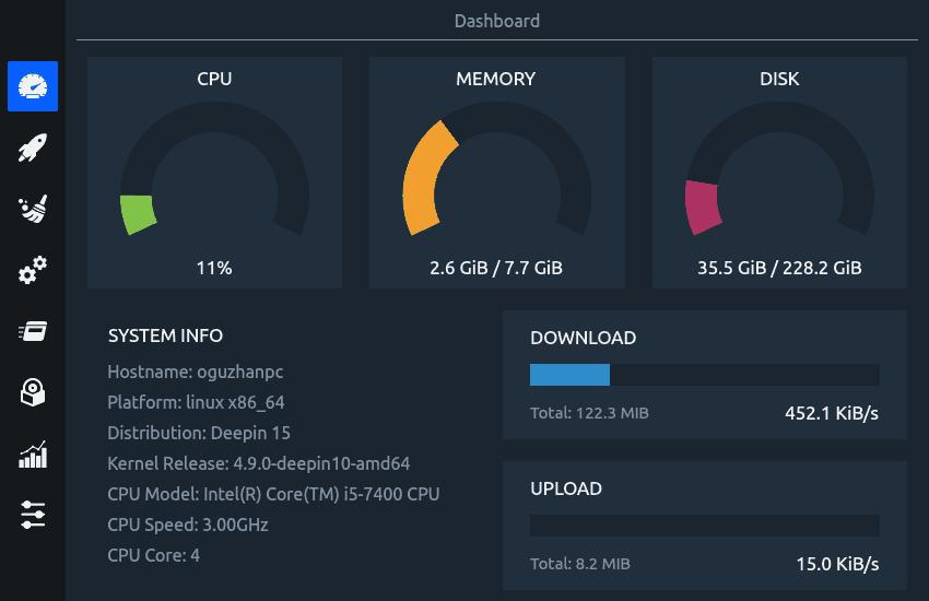 CCleaner para Ubuntu Linux: Stacer