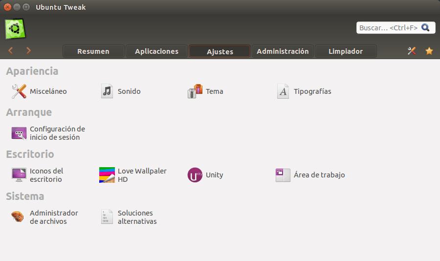 ubuntu tweak linux