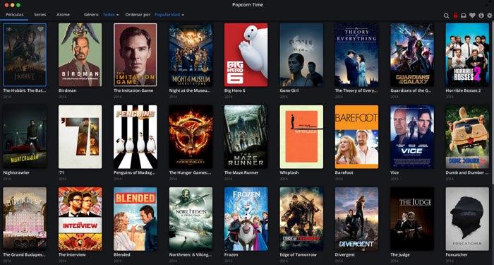 El programa definitivo para ver series y películas online: Popcorn Time