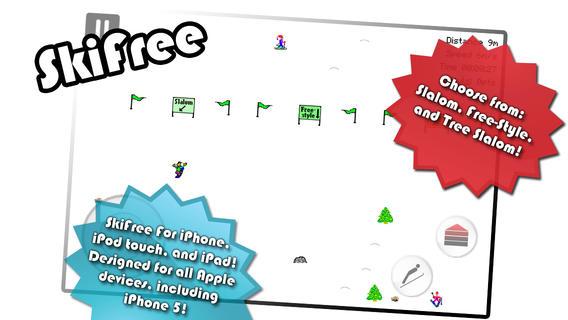 Los 10 mejores juegos de deportes para el iPhone (2015) SkiFree