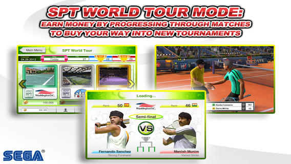 Los 10 mejores juegos de deportes para el iPhone (2015) Virtua Tennis Challenge