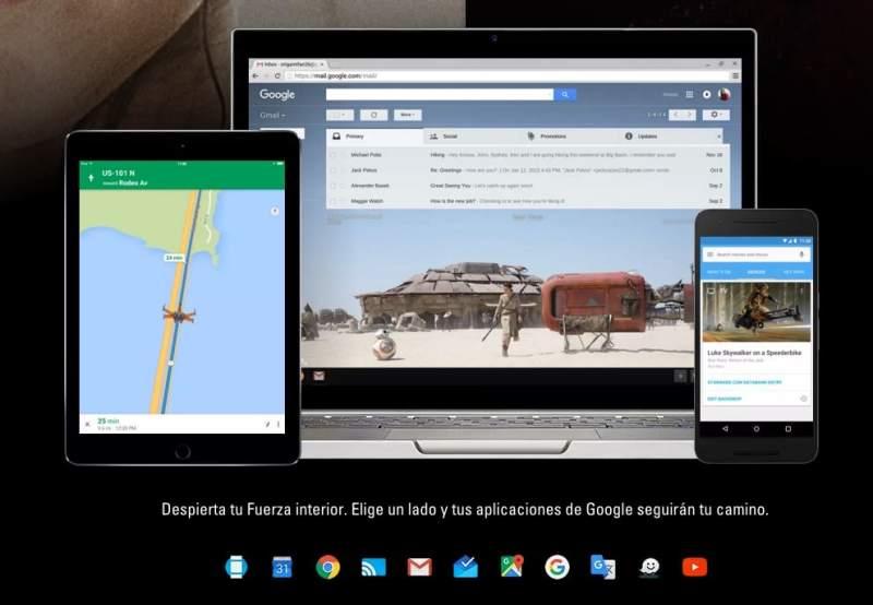 Despierta la fuerza interior con Google y Star Wars: Como convertir tus apps Google con temas de Star Wars