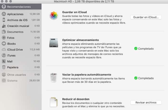 organizar archivos en el Mac