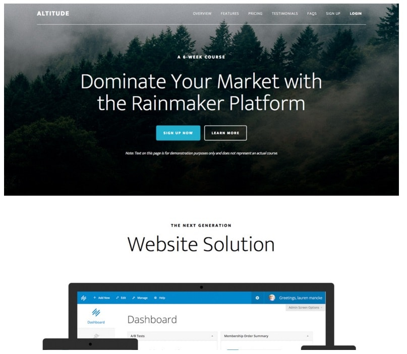 Altitude Pro Theme Genesis WordPress