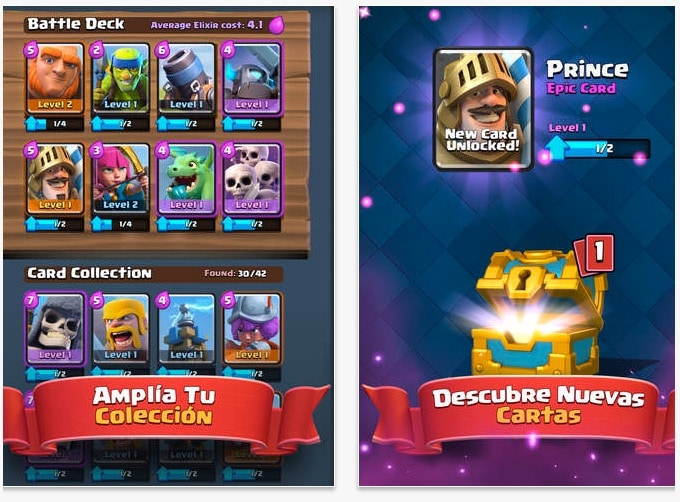 Cartas en Clash Royale