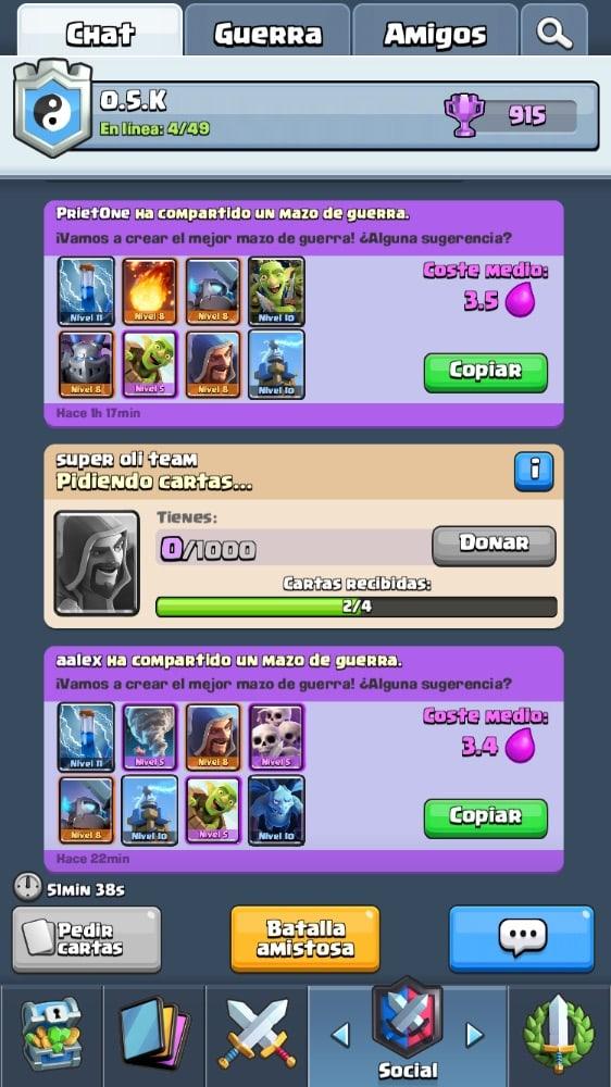 El truco definitivo para subir de nivel rapidamente en Clash Royale: únete a un clan