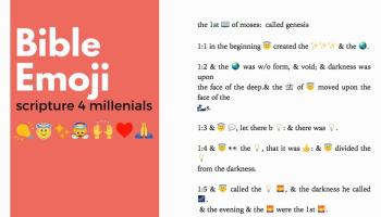 La Biblia en emoji: las Escrituras para los Millenials