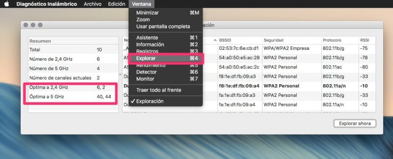 explorar tu red WIFI en un Mac