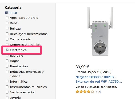 Ofertas electronica Amazon España