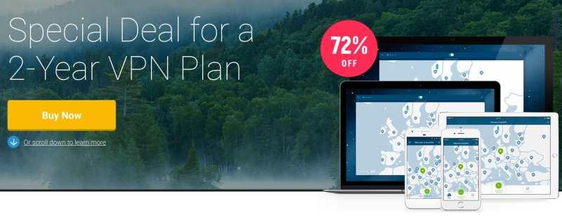 ¡Oferta VPN! Más del 70% de descuento al darte de alta en NordVPN