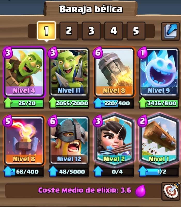 ¿Cuál es el mejor mazo Log Bait para Clash Royale?
