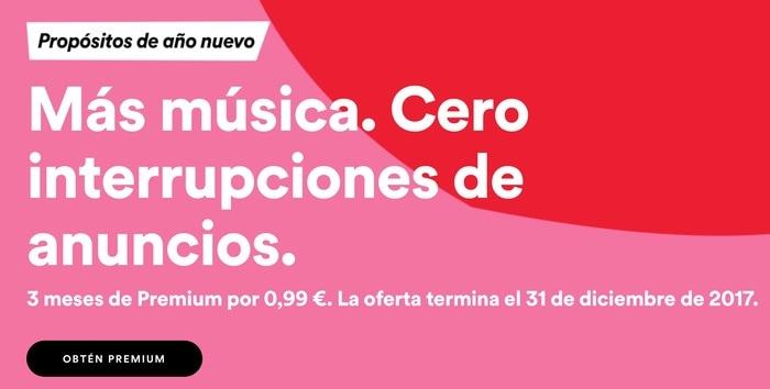 Spotify: oferta 3 meses por solo 0.99 euros