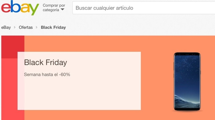 eBay.es, ofertas en el Black Friday 2017