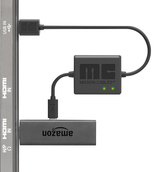 Mission Cables MC9E - Cable USB de alimentación para el Amazon Fire TV Stick, color negro