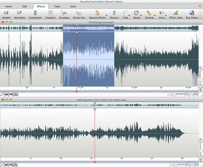 Programa para editar audio: WavePad Audio Editing Software