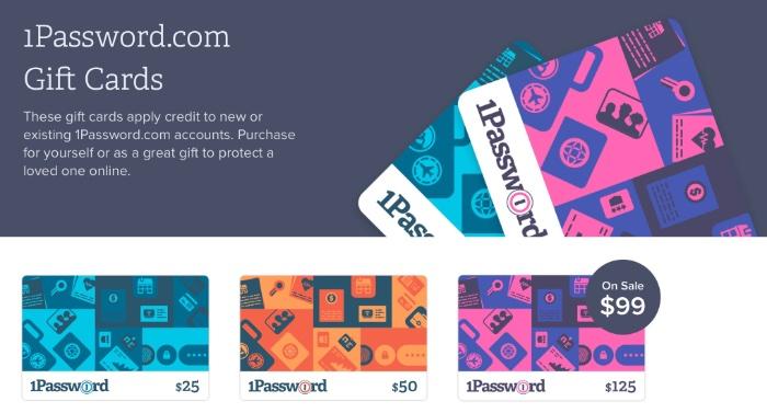 1Password licencia de aplicaciones vs 1Password suscripción + tarjeta regalo de 1Password