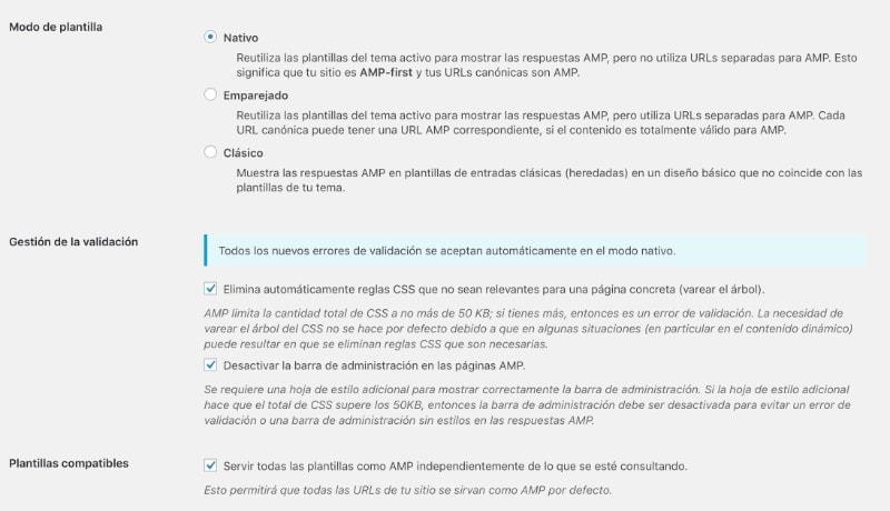 Plugin AMP WordPress