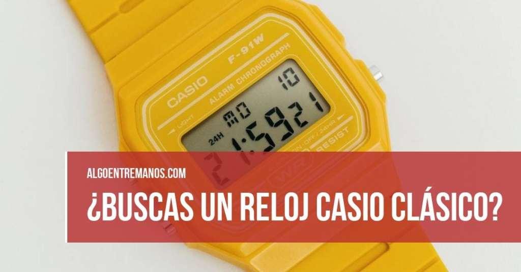 ¿Buscas un reloj Casio clásico?