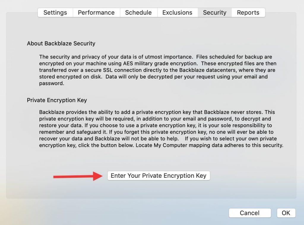 backblaze clave encriptacion