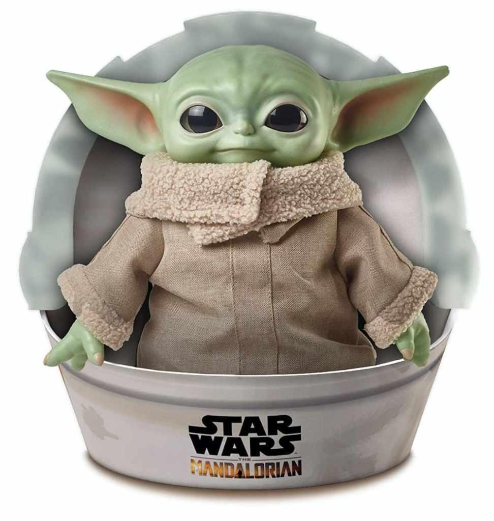 Star Wars Baby Yoda de la serie The Mandalorian, peluche de 28 cm