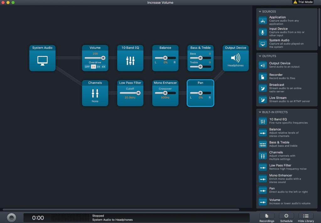 AUDIO HIJACK Mac ecualizador y efectos sonido
