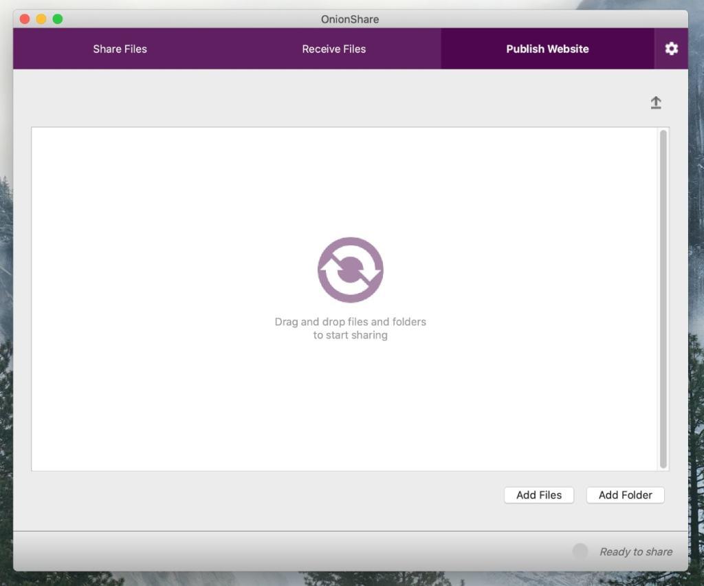 Cómo funciona OnionShare: publicar un sitio web .onion