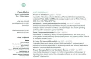 Currículum de Pablo Muñoz