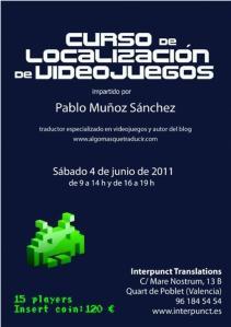 Curso de localización de videojuegos en Valencia el 4 de junio
