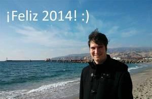 Pablo Muñoz en la playa de Almería