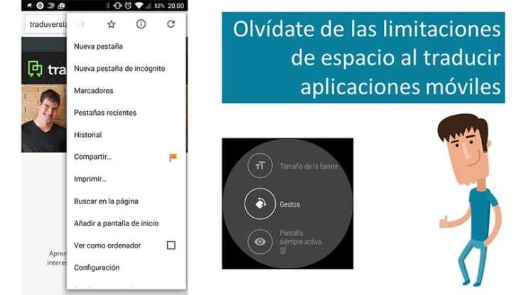Olvídate de las limitaciones de espacio al traducir aplicaciones móviles
