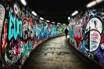 Graffiti walls tagged like we use SEO tags