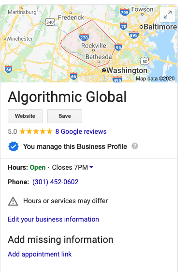 Algorithmic Global Business NAP for citation building