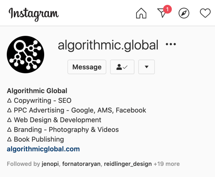 Algorithmic Global digital marketing project