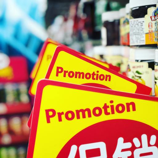 promotion signage