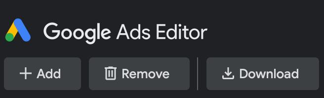 Google Ads editor logo