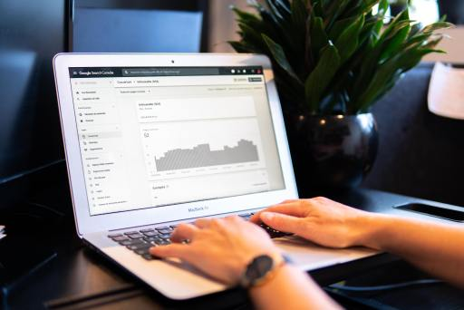 computer showing analytics data