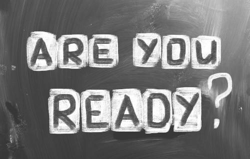 Are you ready written in chalk on black chalkboard