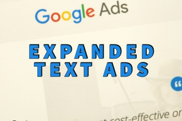 expanded text ads written over google ads interface