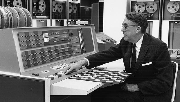 Image Courtesy IBM Arthur Samuel's Machine Leaning Program Playing Checkers