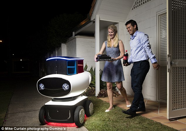 Domino's Robotic Unit, is an AI delivery robot
