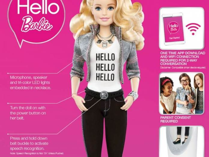 Hello Barbie AI powered talking Barbie