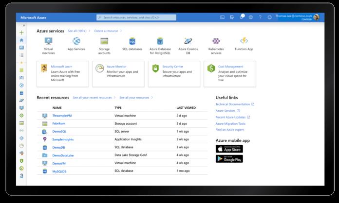 Microsoft's Azure cloud computing platform