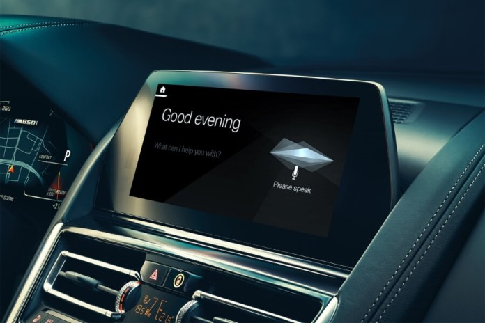 BMW's Intelligent Personal Assistant allows you to give instructions is an example of natural language processing in self driving cars.