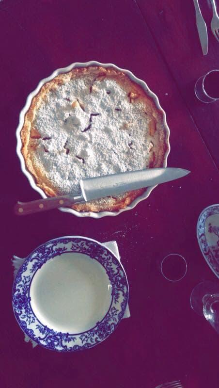 Dessert n°1 , Table d'hôtes de la Maison du Tisserand de l'abbaye de Flavigny - En Bourgogne