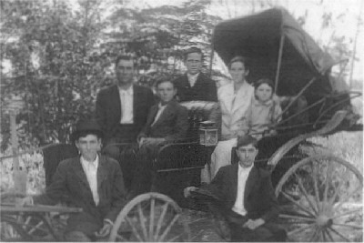 James Polk Bright is of his family taken around 1918 Guntersville AL.